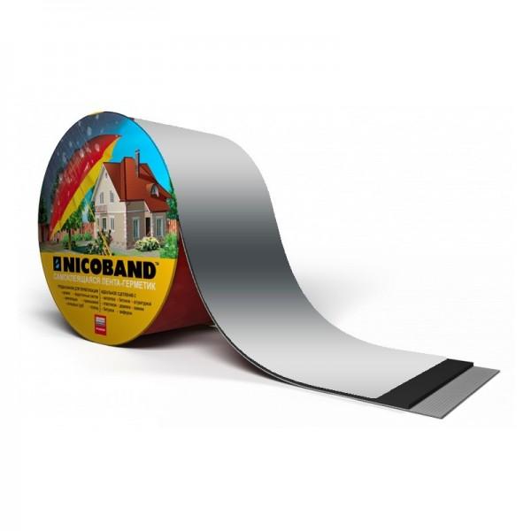 NICOBAND серебр. дл.3м.,шир. 10 см